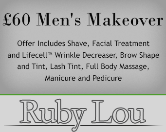 £60 Men's Makeover - Offer Includes Shave, Facial Treatment and Lifecell Wrinkle Decreaser, Brow Shape and Tint, Lash Tint, Full Body Massage, Manicure and Pedicure